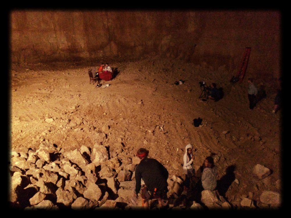 This was one of my favorite night shoots we did for the entire film. A very nice quarry owner named Mike Lepke allowed us to shoot unsupervised in his quarry this night, and it was an incredible experience.