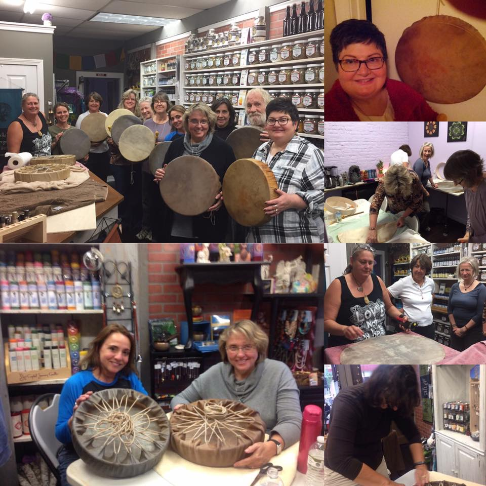 Last Year's Class had so much fun making drums!