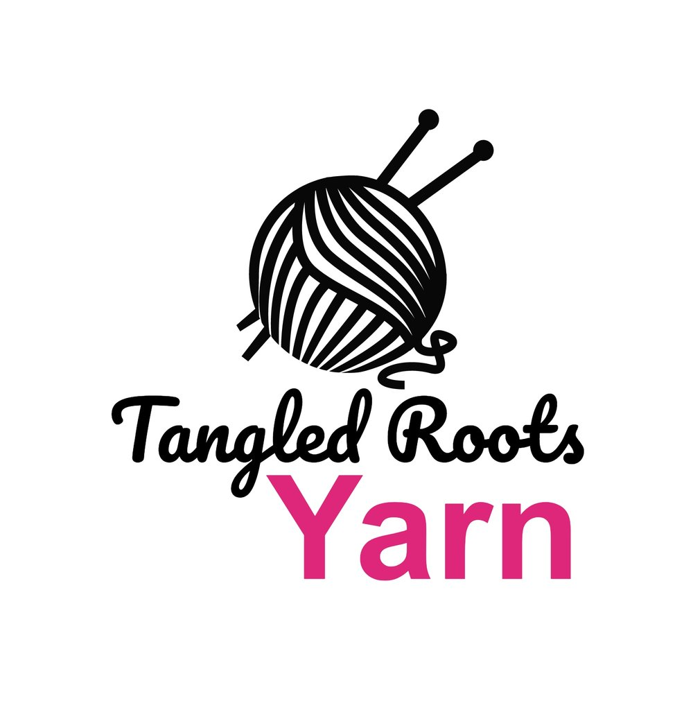 We are located inside of Tangled Roots Herbal. We are unique in that each month we bring in a totally different small batch hand-dyed yarn company. So, much like artwork - what you see is what we have and our next order of yarn will be totally different! We carry fingering and sock weight yarns from small batch dyers all over the world!  We also carry a variety of very cute, locally made knitting bags with a very unique style to them. How fun is that?! We hope you will stop by to check us out and join our community!