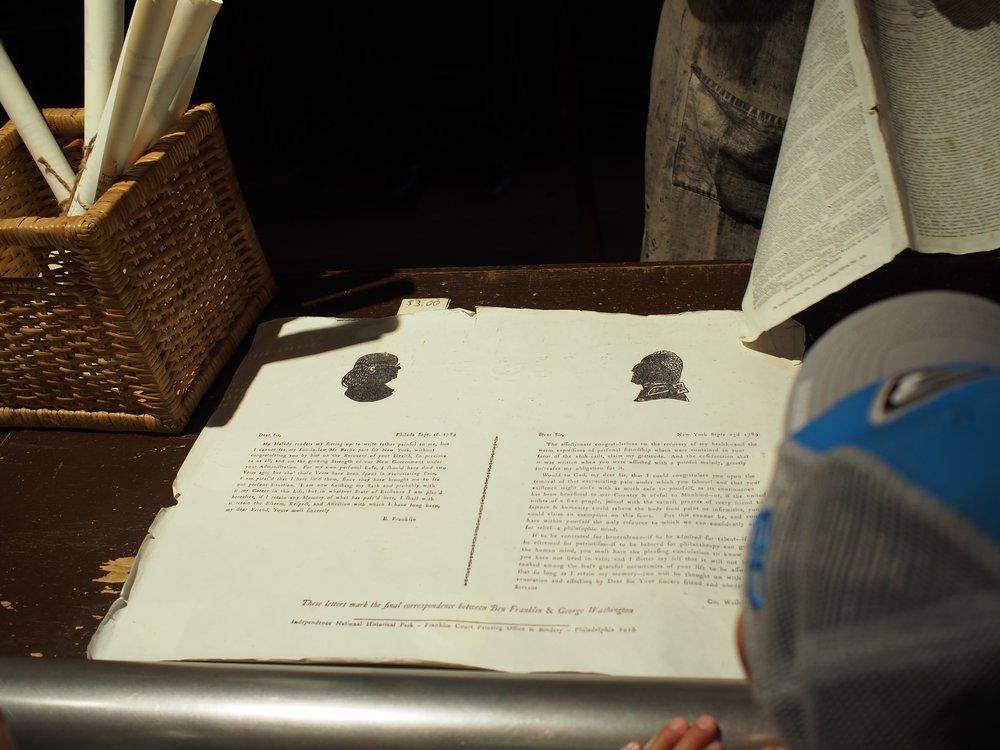 Letterpress souvenirs