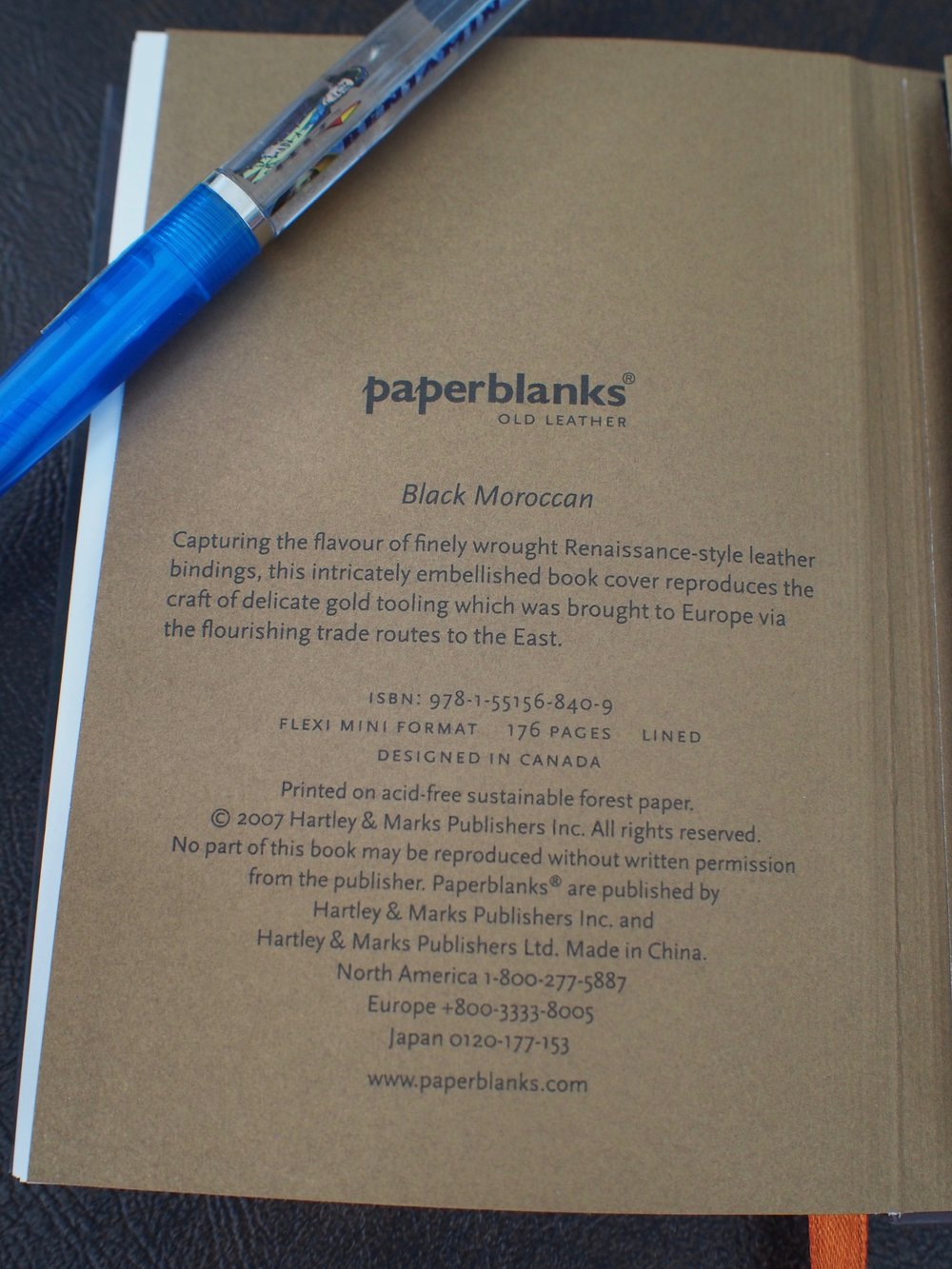A Canadian connection!  Hartley & Marks is a Canadian publisher that also produces these Paperblanks notebooks.