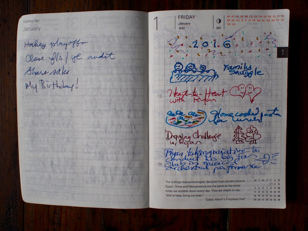 Coming Up (l), Daily Page (r)