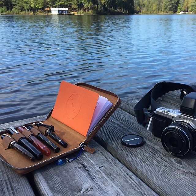 Pens on the docks #penaddict #stationery #fountainpen #fountainpenlife #cottageliving #muskoka #pendorasboxbts