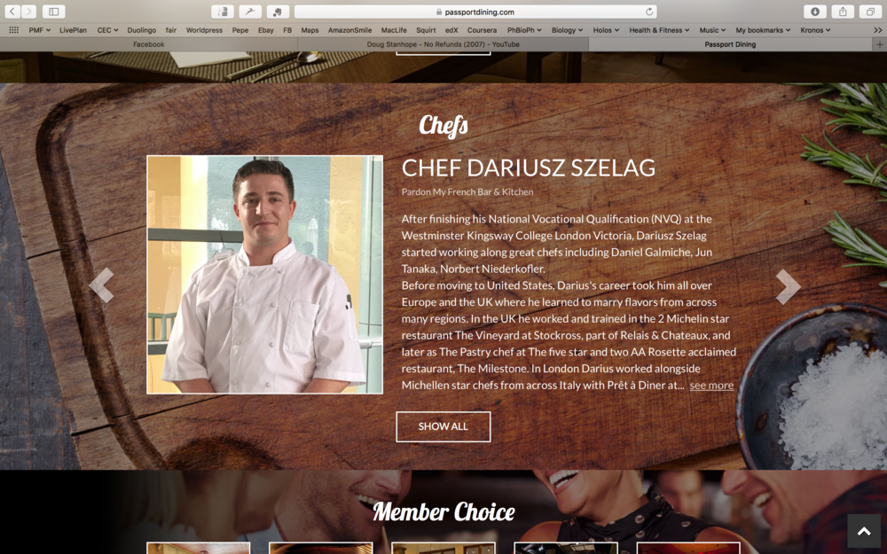 Chef Dariusz Feature on Passport Dining