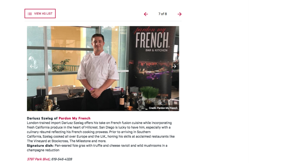 Chef Dariusz Feature on Zagat Dining