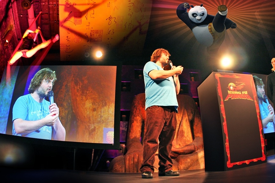 "Jack Black. ""Kung Fu Panda"" (Sneak Peek). Dreamworks Merchandise Marketing Opportunity."
