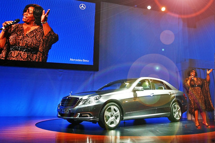 APRIL 2009 | NYC. Mercedes Benz Internatio  nal Auto Show, featuring Diane Reeves.   Stage Management & Show Direction by Good Sense.
