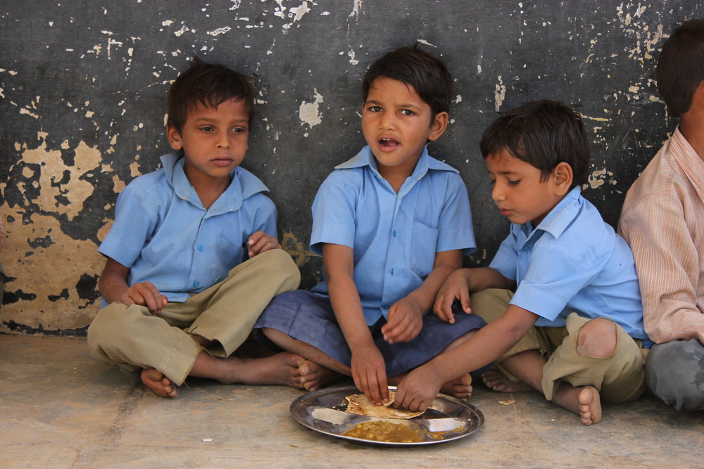 Classroom hunger is a problem that affects the entire nation. One third of the world's undernourished children are from India.