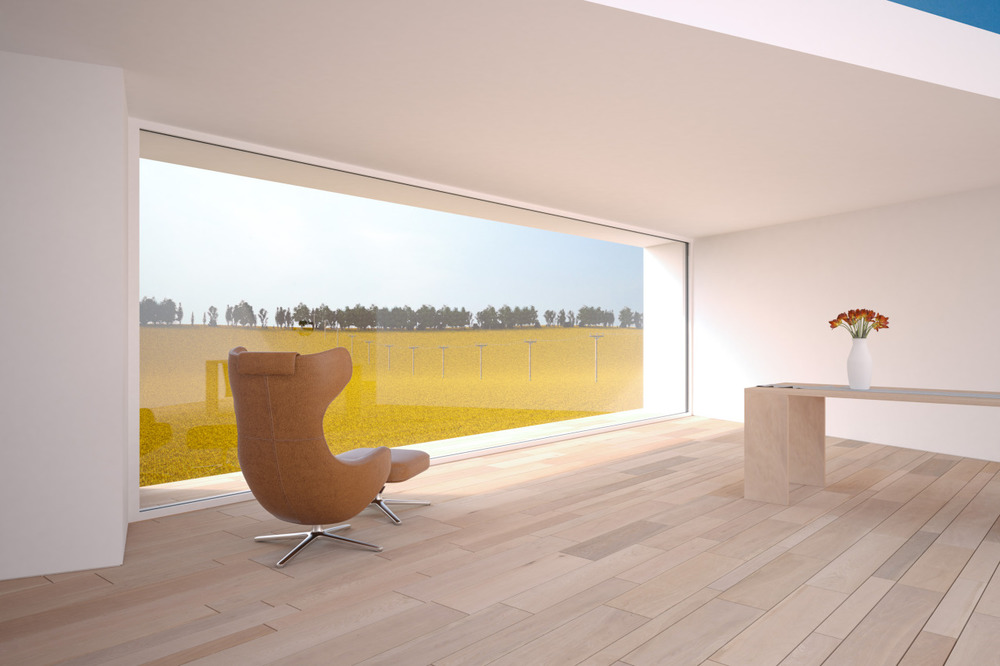 A minimalist farm house in Belgium. Rendering was done in Vray with only a very small amount of post-production.