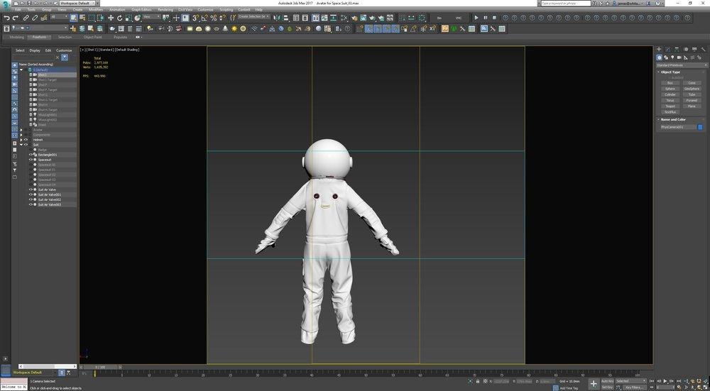 Screen grab of Space Suit Development