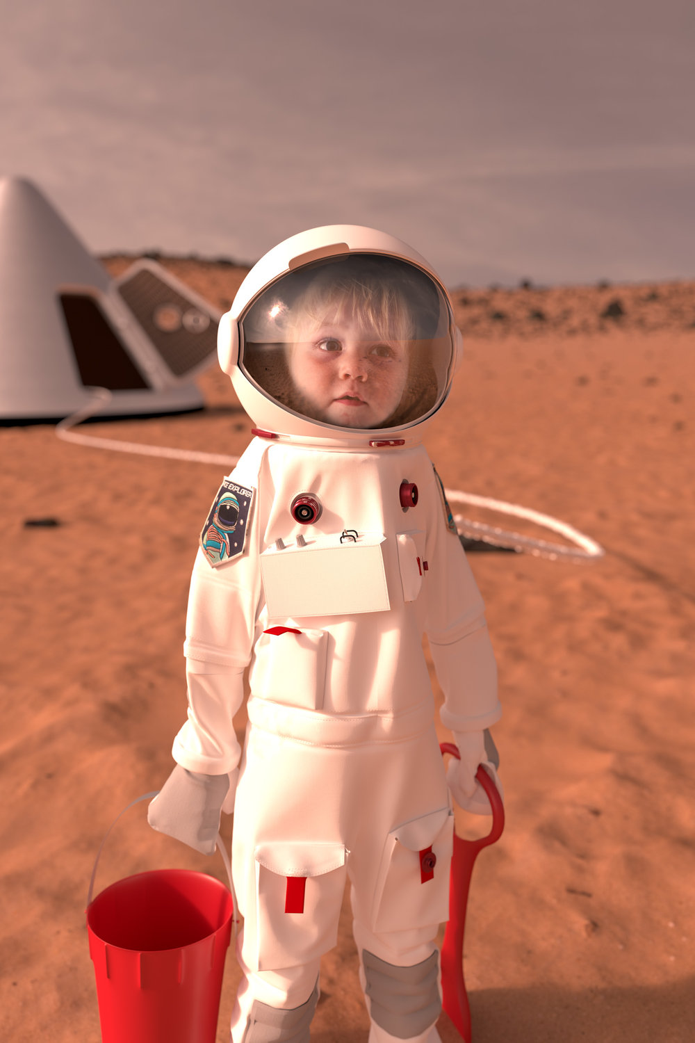 Life on Mars - Jack explores with bucket and spade