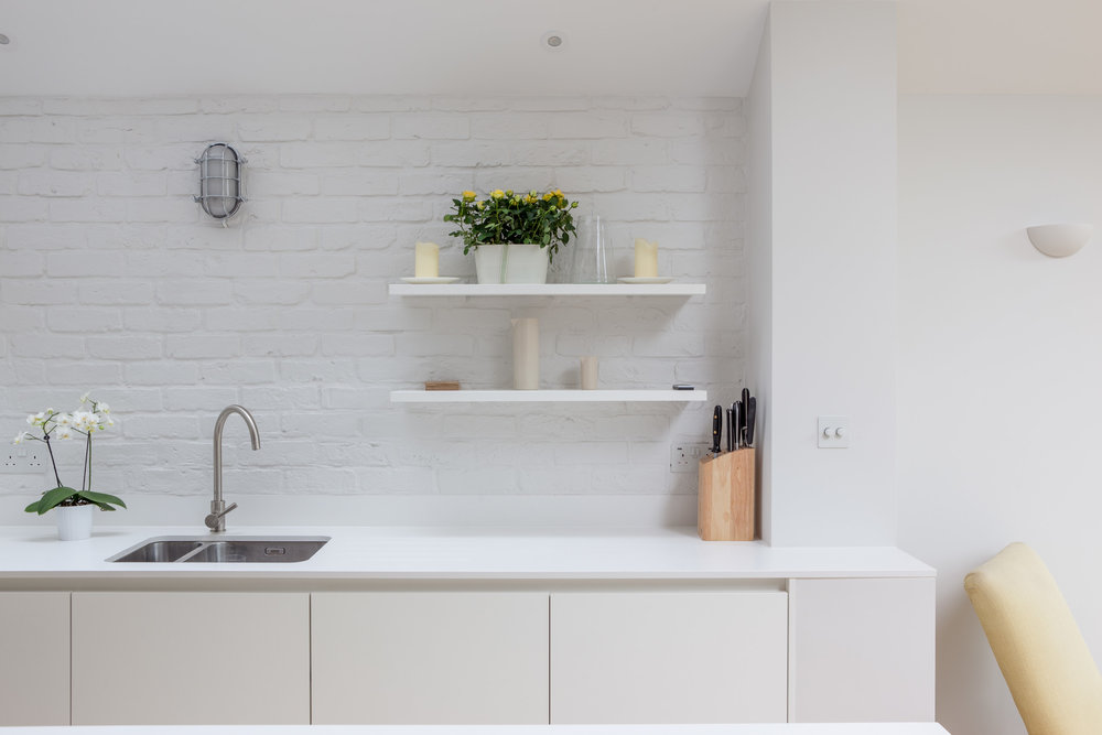 Kitchen in Balham extension photographed by Whitaker Studio