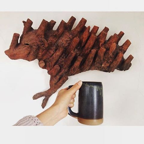 Enjoy Coffee and Clay at Factory Coffee! Cup and Sculpture via @graylingceramics