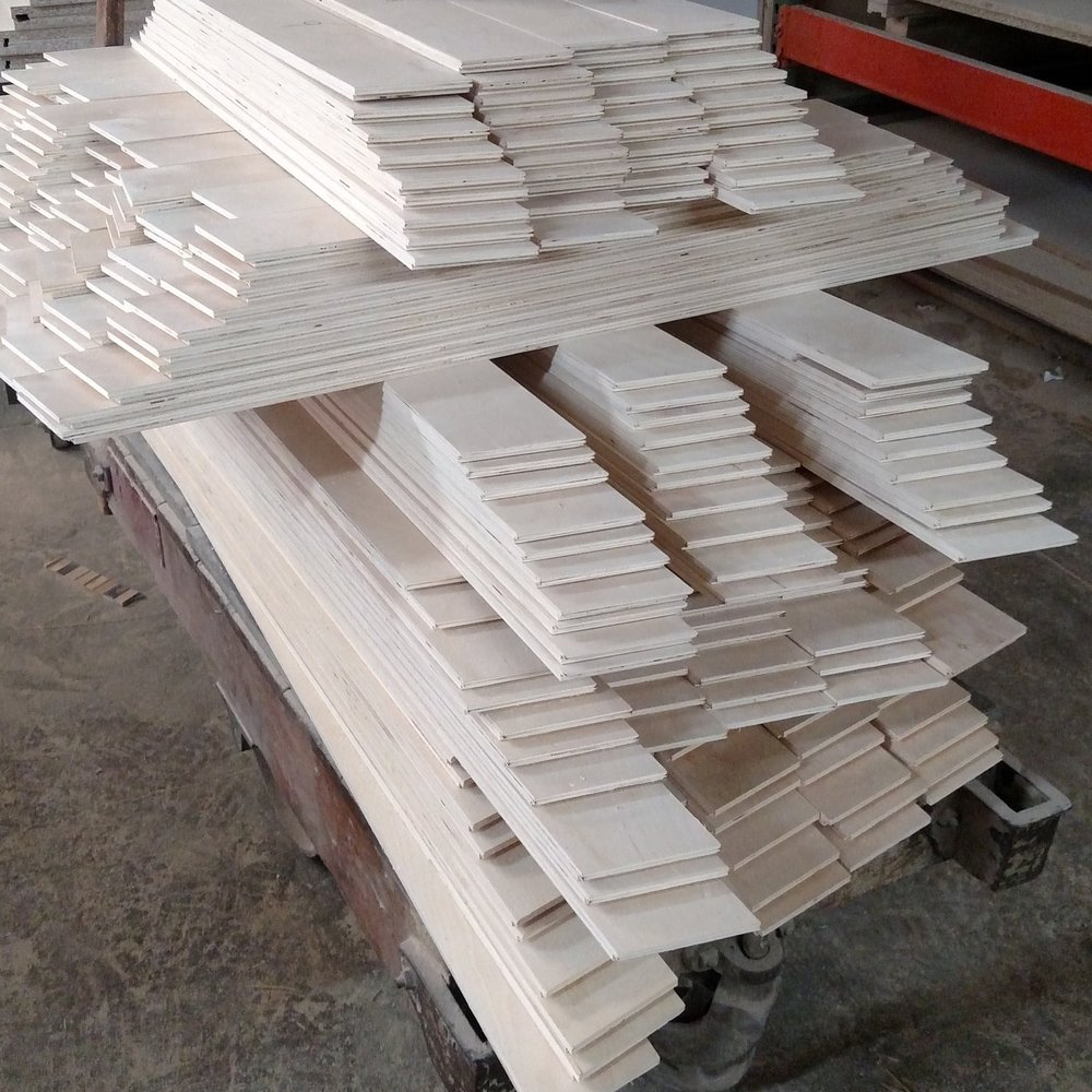 Slats, slats and more slats... Our CNC machine was busy that week!