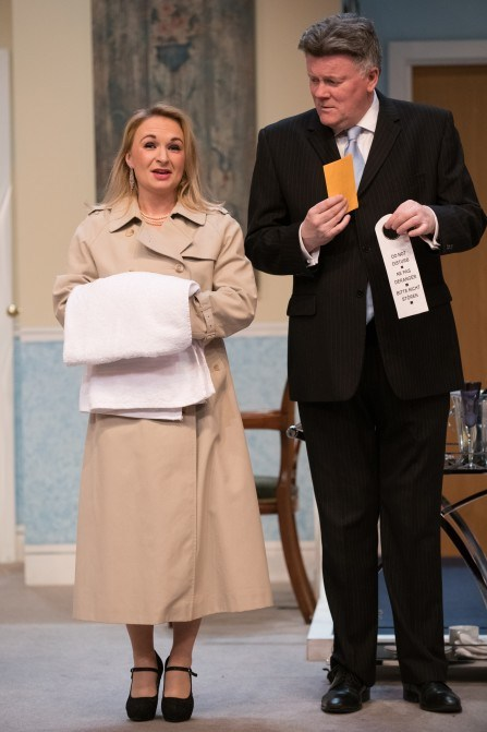 Great double act - Joanne Buxton as Vicky and David Beddy as Pip - photo by Vish Sharma