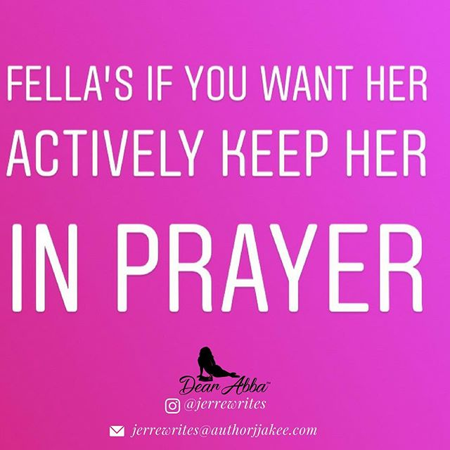 There's TONs of advice for women in waiting, but what about the men who are waiting for their wife? I say fella's while you wait, keep that woman in prayer. If you truly believe that she could someday become your wife, why not cover her with prayer daily? Send her prayers of protection, peace, success, broken soul ties that are unhealthy, and/or growth... or do what @adarraaa 's Husband did and pray away confusion! This is real!!! 💕 if you want me... if you truly believe that someday I'll be your one and only, please keep me in prayer as we journey there. 💕