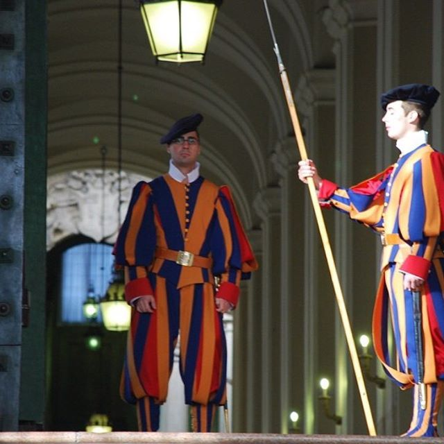 You have to love how the Swiss Guards guard the Vatican. What an honor! #vatican #italy #churchtrips #travel #christiantravelgroups #ctgroups #ctg #faith #honor #mustsee #photoftheday #instagram #instapic #travelgram #italytravel #swissguard