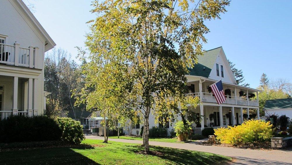 White Gull Inn and Welcker House in summer
