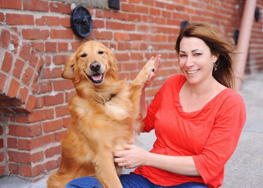 My beautiful Golden Retriever, Karma and me Photo by Cheryl Muhr