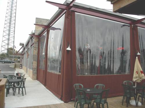 Restaurant patio enclosures  Patio Enclosure — Bartlett Sails & Canvas