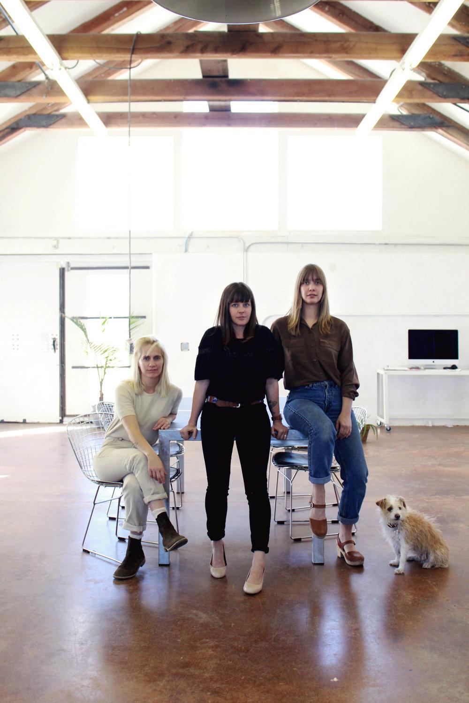 Meredith Stoner, Beth Kelly, Tiffanie Lanmon & Peanut Butter photo by  Marissa Macias