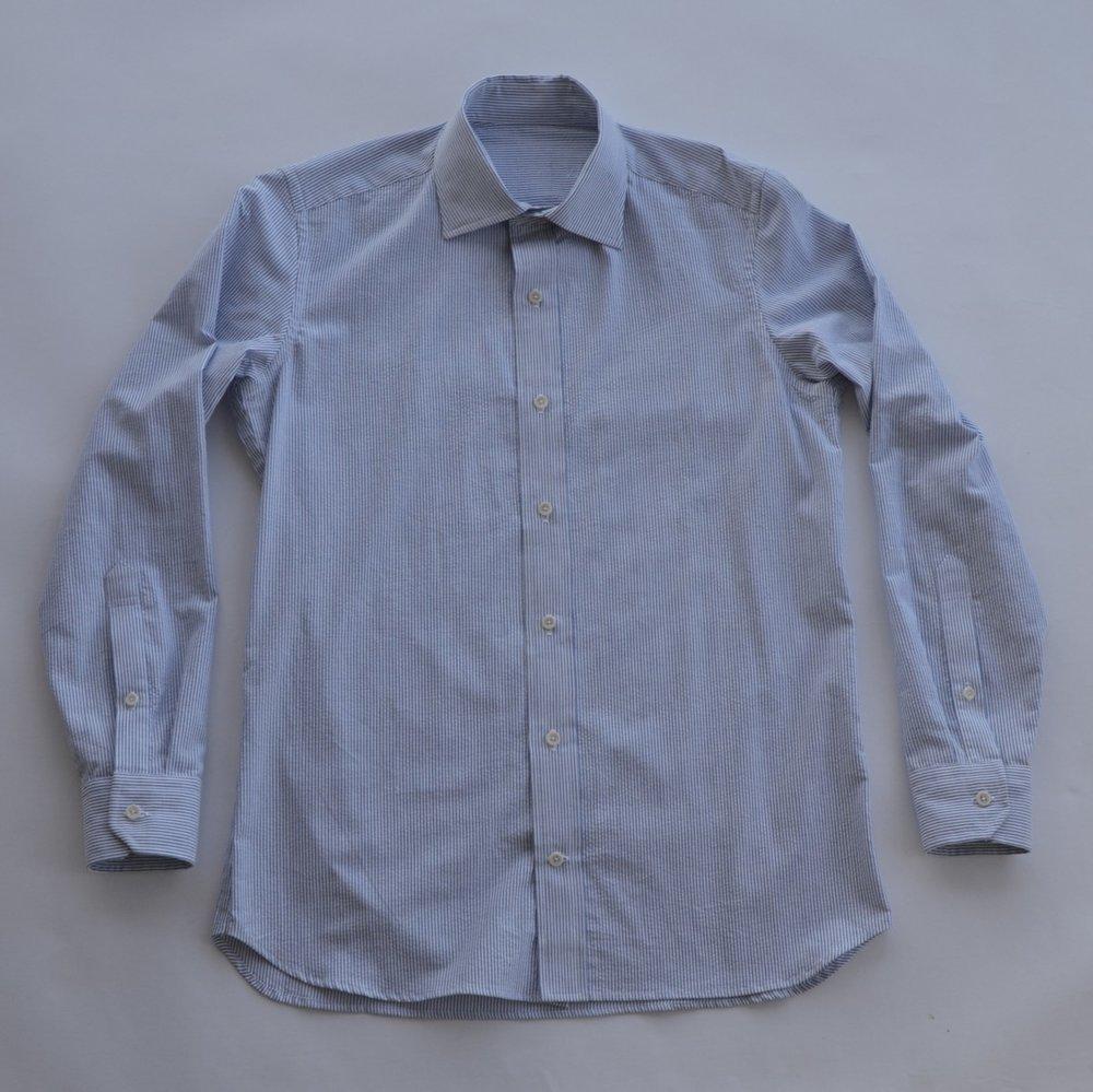 Blue Seersucker, 100% cotton, Japan (Sold Out)