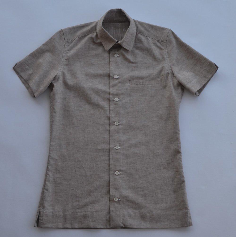Brown Oxford, cotton/linen blend, Japan