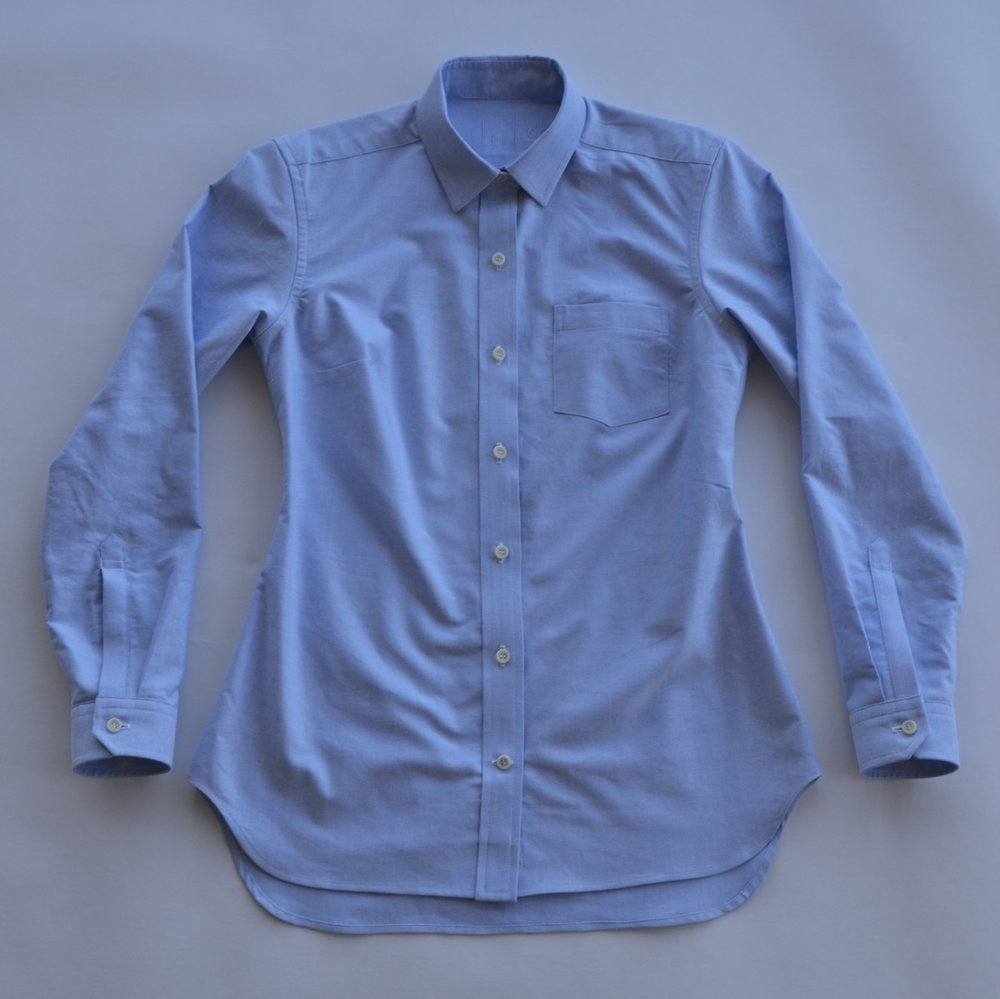 Blue Oxford, 100% cotton, Japan (sold out but coming soon in lighter blue and in pink)