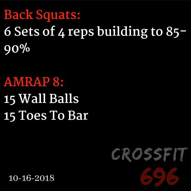 WOD for October 16 2018. Post Results in comments! #crossfit696  #crossfit #wod #workout #work #fitness #journey #community #gym #gymtime
