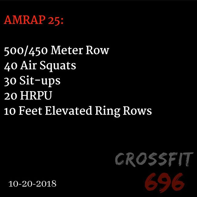 WOD for Saturday Oct 20, 2018! #fitnessconcepts #crossfit696  #crossfit #gym #workout #wod