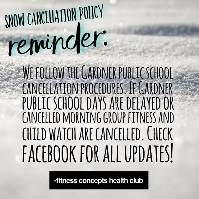 Some winter reminders! Thank you!!! #winter #newengland #fitnessconcepts