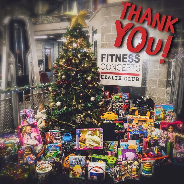 A HUGE thank you to all our members that made this the most successful toy drive we have EVER had! Thank you for your kindness there will be many happy local children this Christmas! FITedge CrossFit 696 CrossFit 696 Kids THANK YOU and Merry Christmas!!!#fitnessconceptshealthclub #fitnessconcepts #crossfit696 #fitedge @crossfit696kidsteens
