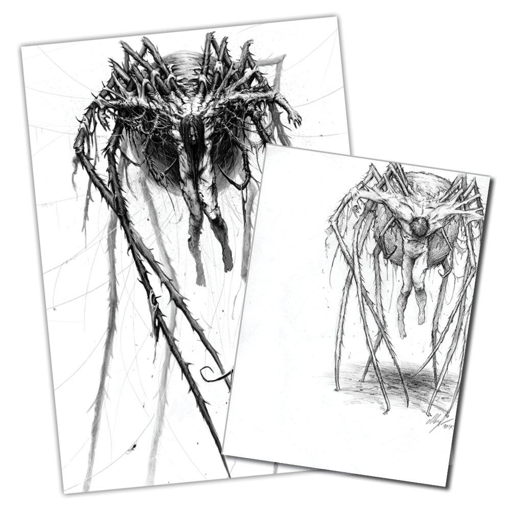Arachnophobia original a4 pencil drawing the art of austen mengler