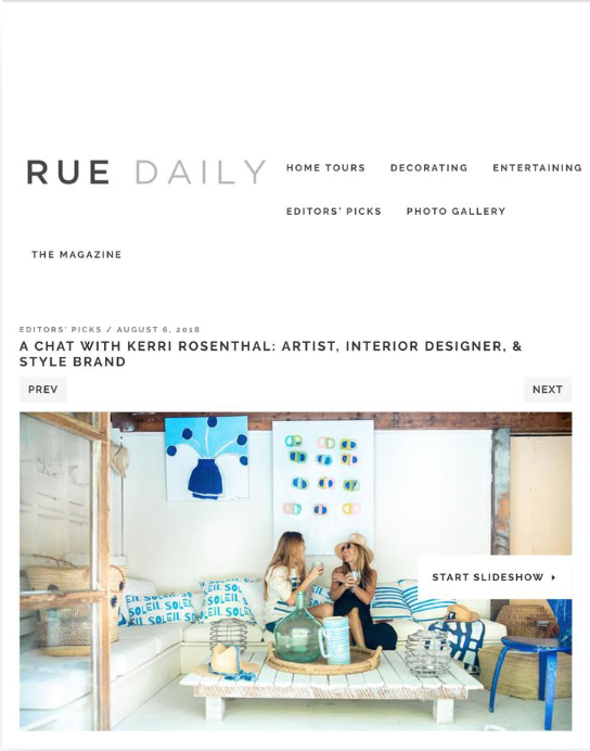 RUE DAILY MAGAZINE - Fall 2018