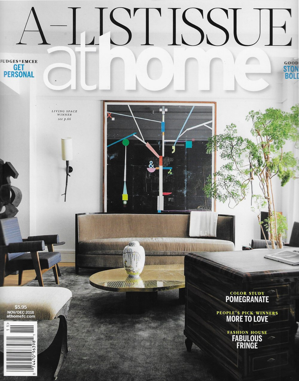 AT HOME MAGAZINE - Nov/Dec 2018