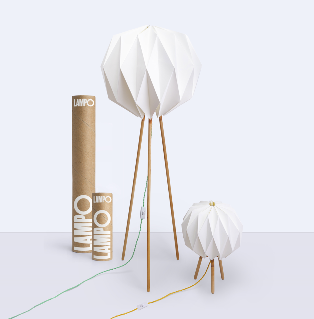 Threaded Woodwork And An Origami Lampshade Create A Lamp Thats As Beautiful It Is Smart
