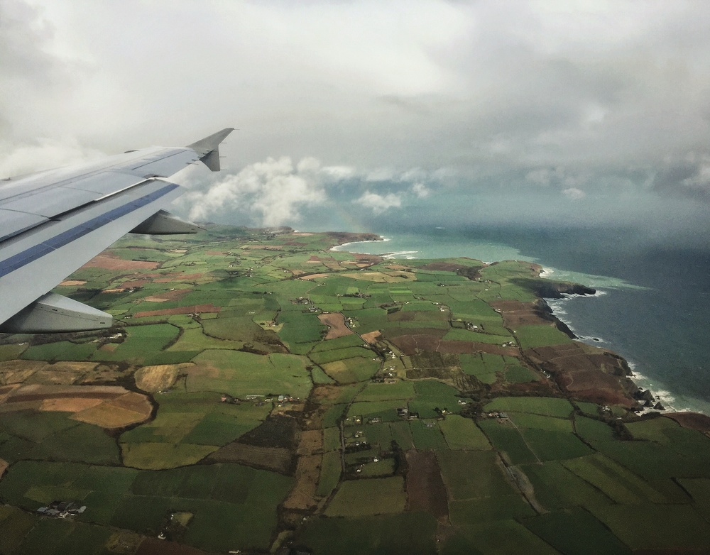 The contrast between the Coastline of Ireland and the vibrant green fields left us speechless.