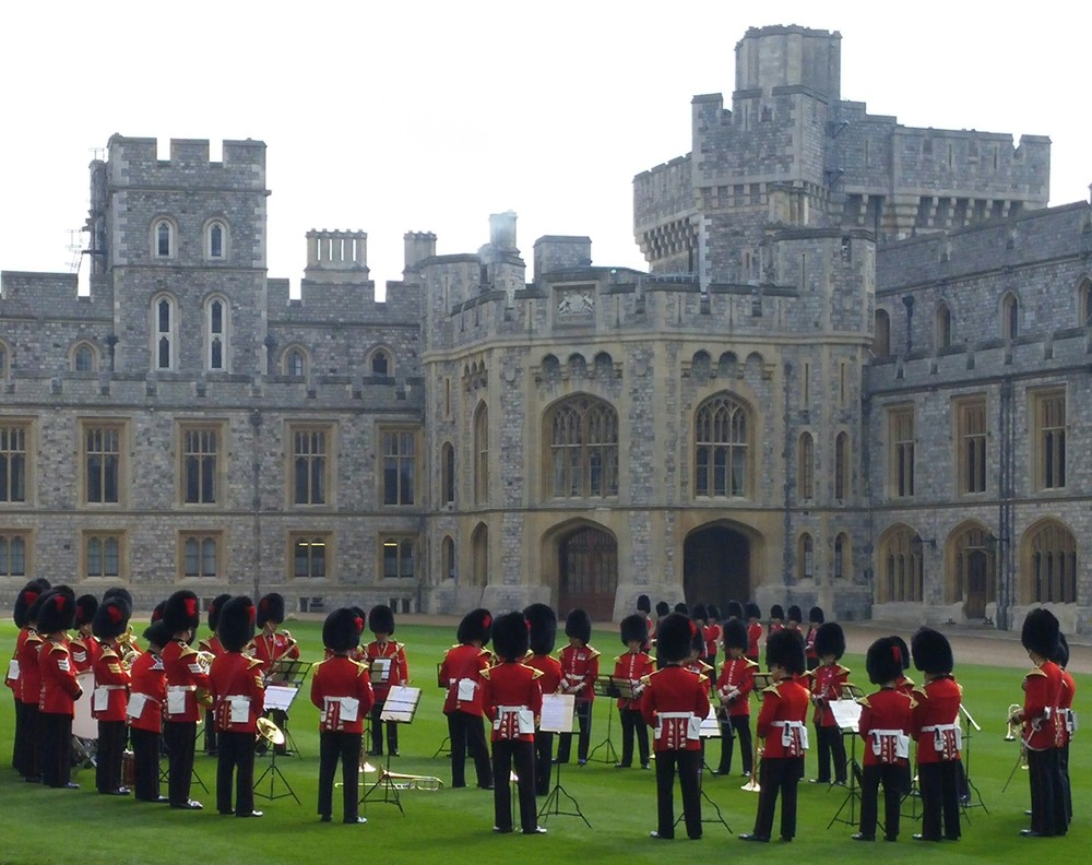We were blessed to be able to see the Changing of the Guard during the Queen's stay at Windsor on a Sunday- which is a rare occurrence.