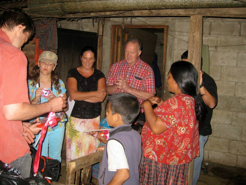 Visiting the homes of our new sponsor children.