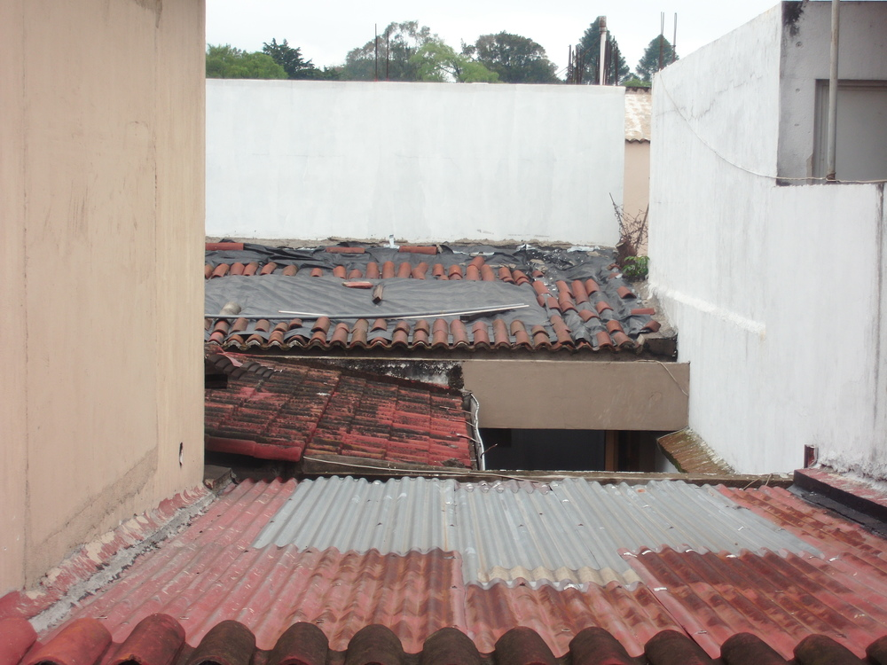 The familiar Latin America roofing. The sound of rain on these roofs is incredible.