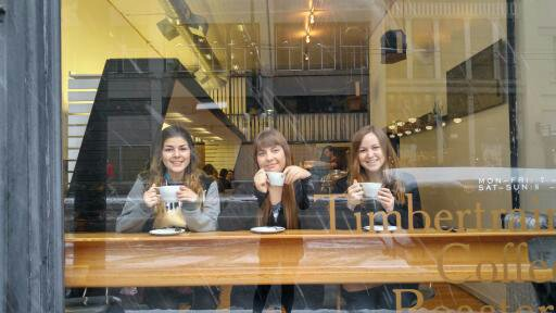 Timbertrain- one of the trendiest Vancouver cafes located in Gastown.