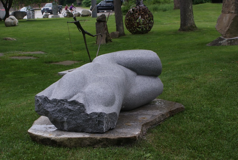 Granite Torso, located in the Pocket Park by Splash, by Chris Miller Price on request