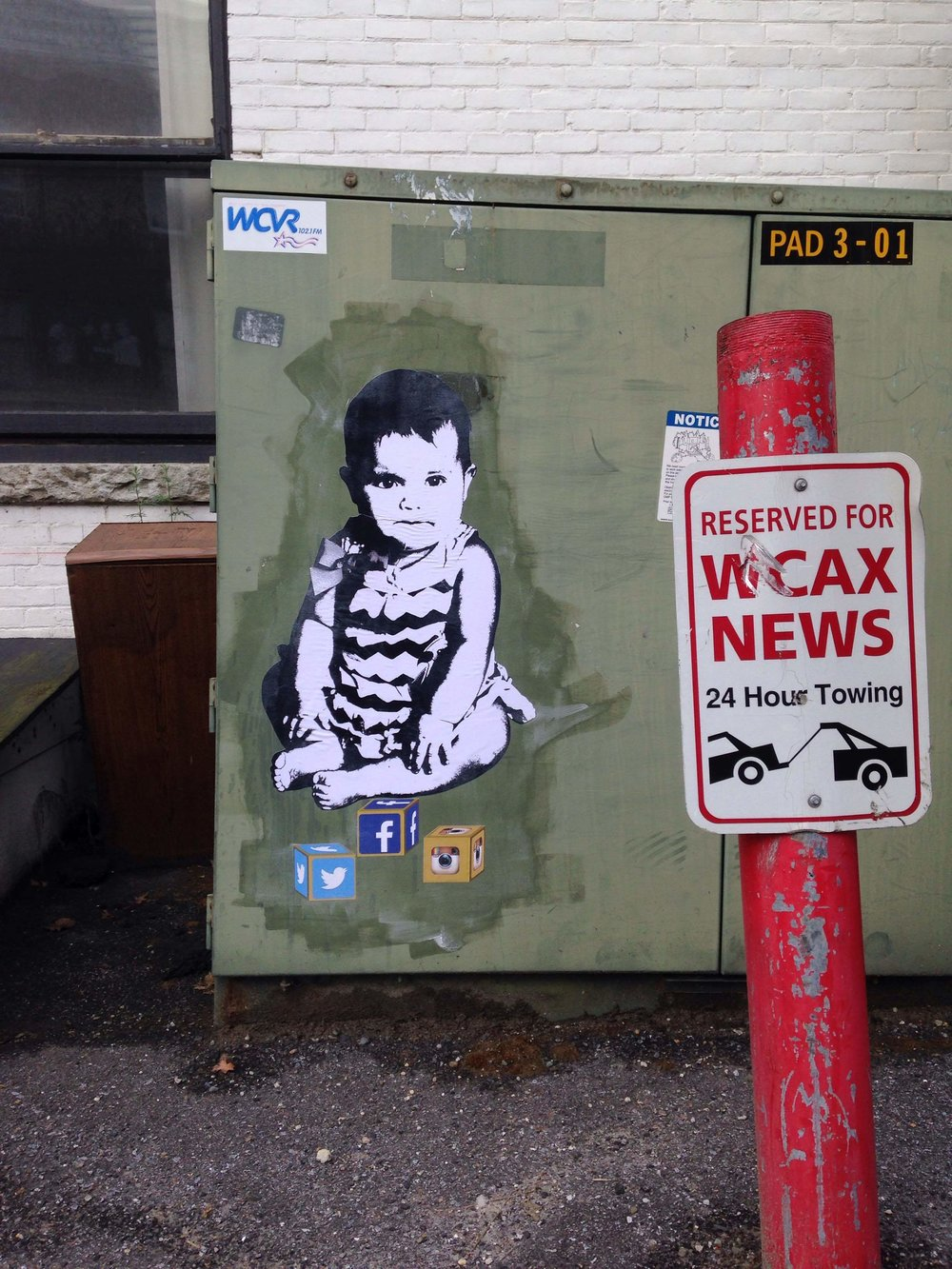 Wheat Paste Image: by DJ Barry