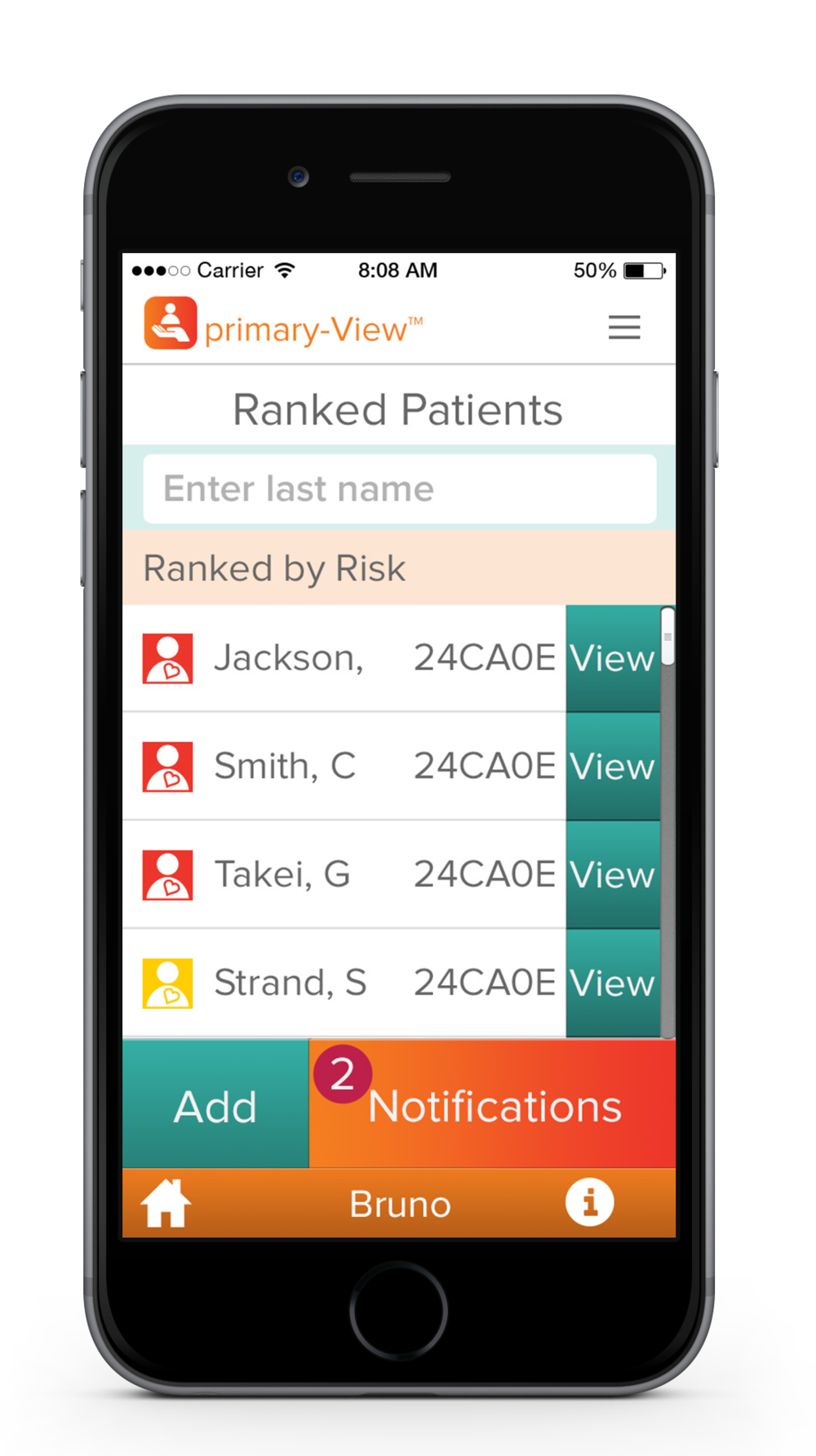 Patient Success System dashboard for MEDICAL PROVIDERS