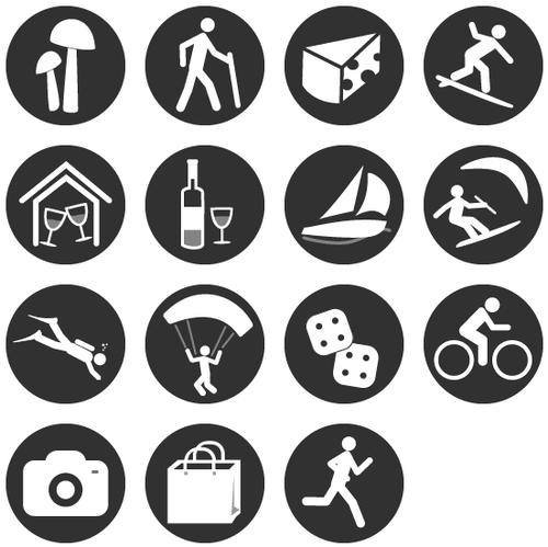 Club Zimba icons for activities