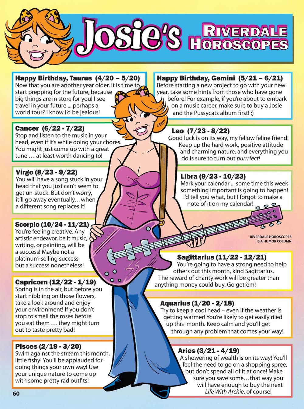 Josie's Riverdale Horoscopes
