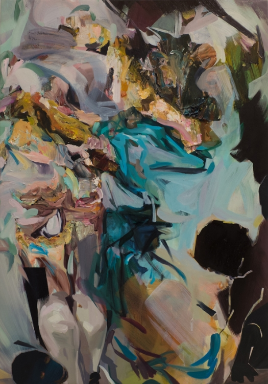 A Couple, 2015, oil on canvas, 50in x 35in