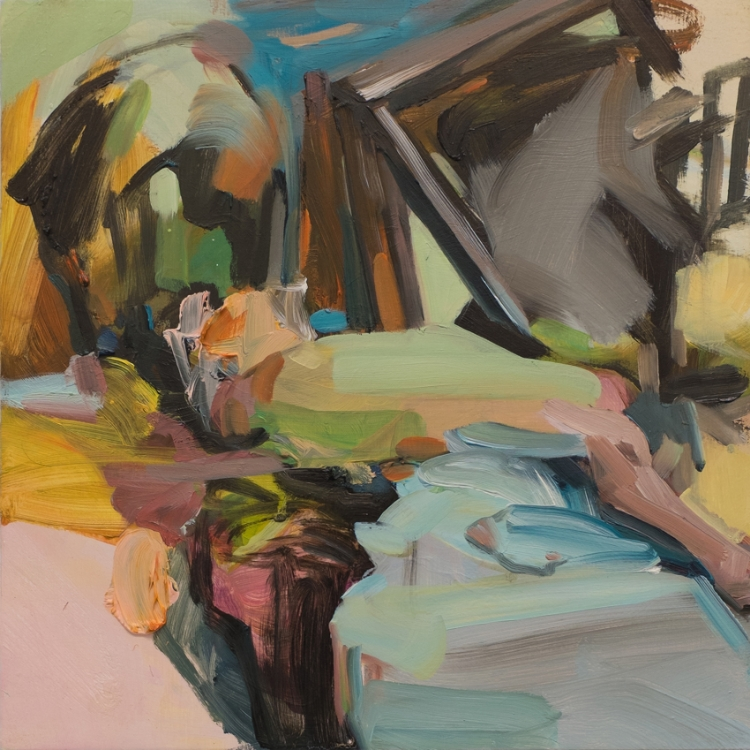 Kitchen Table, 2015, oil on wood, 12in x 12in