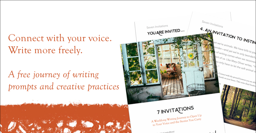 Seven Invitations writing journey