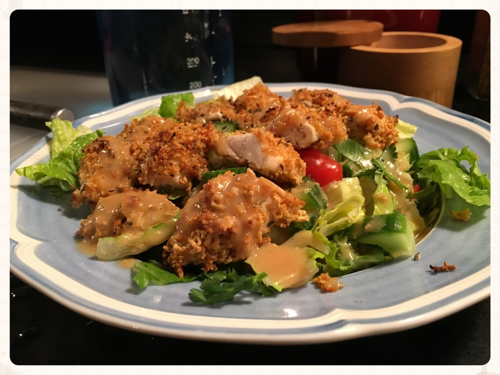 BAKED CORN CHEX CRUSTED CHICKEN